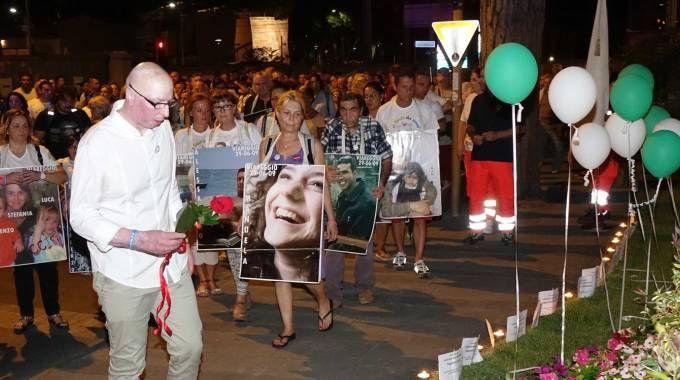 Marco Piagentini durante la manifestazione di ricordo dello scorso anno