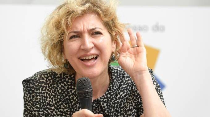 Catia Tomasetti, presidente della Cassa di Risparmio di Cesena