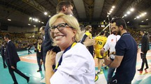 Il sorriso di Catia Pedrini. Il presidente gialloblù ha confermato l'iscrizione della squadra alla prossima A1