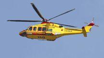 Incidente sul lavoro a Dozza, l'operaio ferito è stato portato in elicottero all'ospedale Maggiore di Bologna (Foto di repertorio Fornasari)