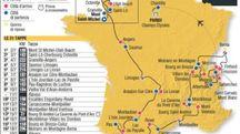 Il percorso del Tour de France 2016 (Ansa-Centimetri)