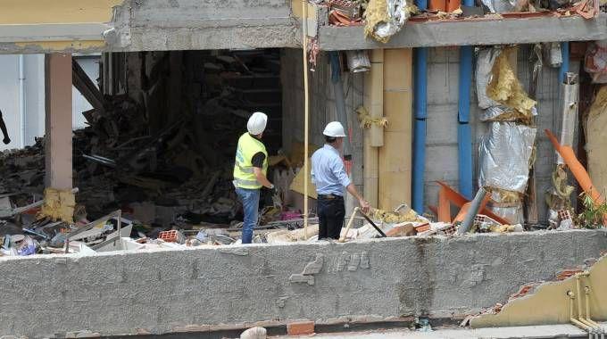 L'appartamento esploso in via Portoferraio