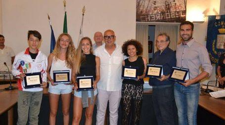 Gli sportivi premiati a Castiglione della Pescaia