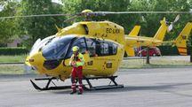 L'elicottero del 118 (foto di repertorio)