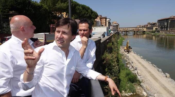 Lavori lungarno Torrigiani, il sindaco Dario Nardella incontra i tecnici