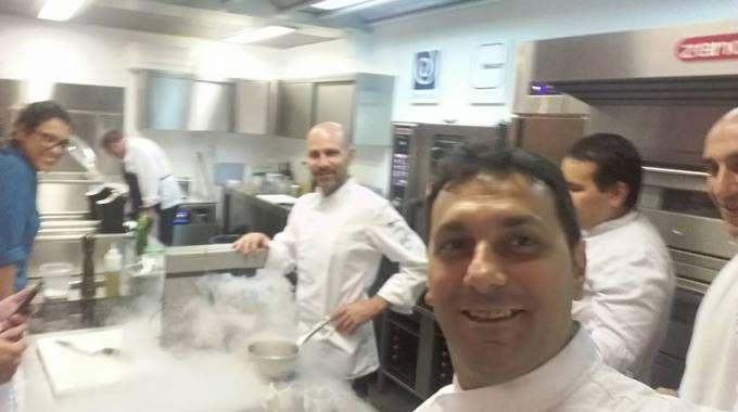 Lo chef Rossini in cucina