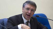 Il presidente dell'ANAC Dott. Raffaele Cantone, a Roma, 21 aprile 2016, per la firma del protocollo d'intesa sulla task force anticorruzione in Sanit??. ANSA/MAURIZIO BRAMBATTI