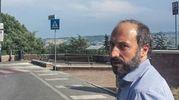 Nigeriano ucciso a Fermo: il sindaco Calcinaro sul luogo della tragedia (Foto Zeppilli)