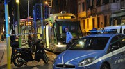 La polizia sul luogo dell'aggressione (Newpress)