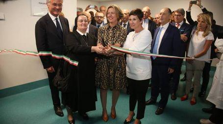,visita dl ministro Lorenzin alla poliambulanza ,Brescia 11 luglio 2016. Ph Fotolive Fabrizio Cattina