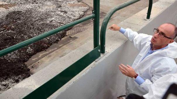 Rodolfo Verpelli, 50 anni, a giugno aveva mostrato i fanghi che vengono lavorati nel sito di Meleti