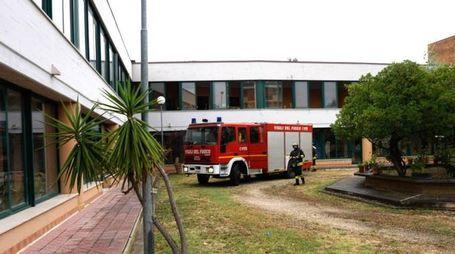 Incendio nella Casa Famiglia in via delle Regioni a Porto San Giorgio  (Foto Zeppilli)
