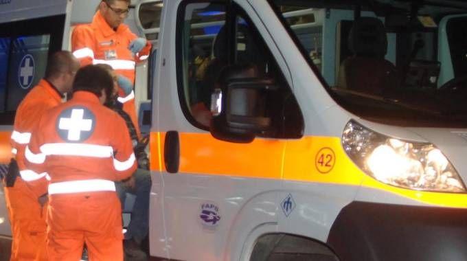 Una ambulanza in servizio