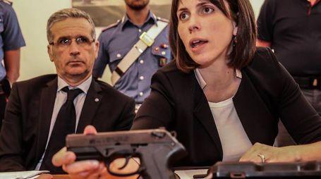 La pistola usata dal macedone per ricattare il suo datore di lavoro (FotoPrint)