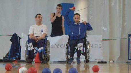 Mauro Perrone (a destra) durante una competizione