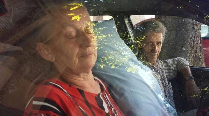 Maurizio e Mariia Cesaroni nella loro Ford Mondeo (foto Petrelli)