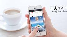 L'immagine della rivoluzionaria app, denominata 'Ripcemetery'