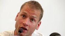 Alex Schwazer in conferenza stampa