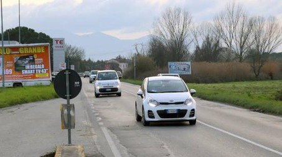 La strada provinciale Camporcioni