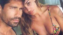 Belen Rodriguez e Marco Borriello (Instagram)