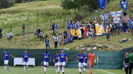 La Sampdoria si sta allenando tra Ponte di Legno e Temù