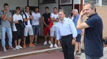 L'Alma Juventus in attesa di partire per Frontone