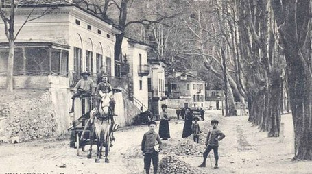 Una foto storica di Pratogiano a Chiavenna