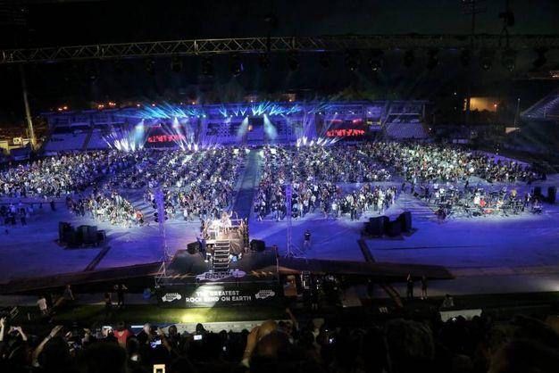 Rockin'1000 allo stadio Manuzzi di Cesena (Foto Ravaglia)