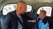 Il piccolo tifoso incontra Pep Guardiola