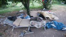 Le brandine abbandonate nel parco Lunetta Mariotti