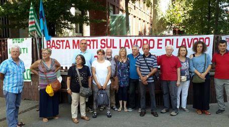Il presidio di protesta contro la Città metropolitana