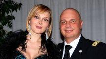 La stilista Francesca Severi e l'ufficiale della Finanza,  Alberto Giordano