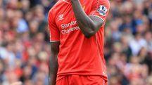 Mario Balotelli con la maglia del Liverpool