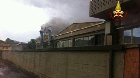 L'incendio nell'azienda Giolli Andrea dell'Impruneta
