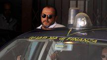 L'imprenditore Giuseppe Cerolini arriva in tribunale (foto Calavita)
