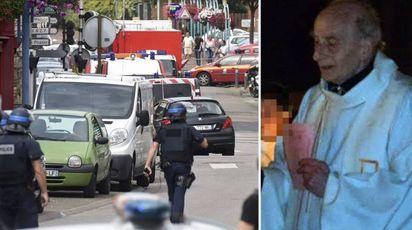 Francia, attacco a chiesa. Prete sgozzato (LaPresse)