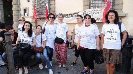 The Bridge, lavoratori in protesta (Giuseppe Cabras/New Press Photo)