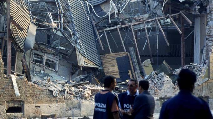 Il Padiglione distrutto dalla bomba