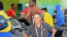 Nerio Alessandri durante le Olimpiadi di Pechino
