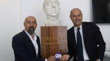 Andrea Galluzzo e Andrea Rogg alla presentazione dei 90 anni della Fiorentina