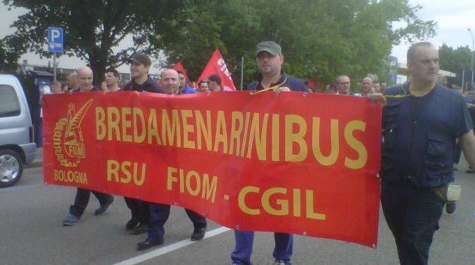 Una manifestazione dei lavoratori Bredamenarini
