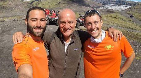 Edoardo Ugolini con Claudio Bisio e Nicolas Cicognani