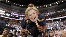 sostenitore di Hillary Clinton alla convention democratica
