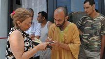 L'Imam di Massa, Abderrazzak Tat, con la nostra cronista (Foto Nizza)