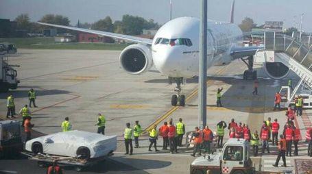Il volo Bologna-Dubai (foto d'archivio Dire)