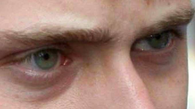 Gli occhi di Alberto Stasi (Ansa)