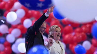 Hillary Clinton e Tim Kaine