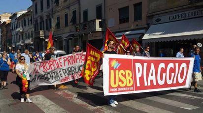 Lo sciopero Piaggio a Pontedera