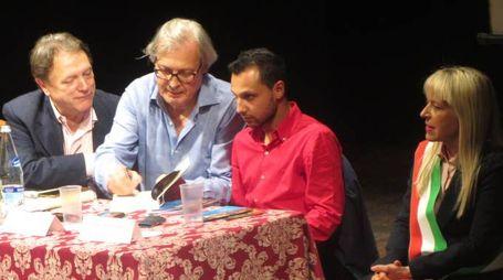 Vittorio Sgarbi al teatro Feronia