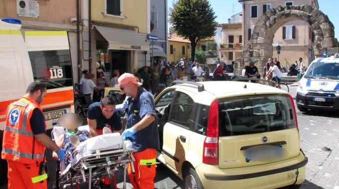 Incidente a Porta Montanara a Rimini (foto Migliorini)